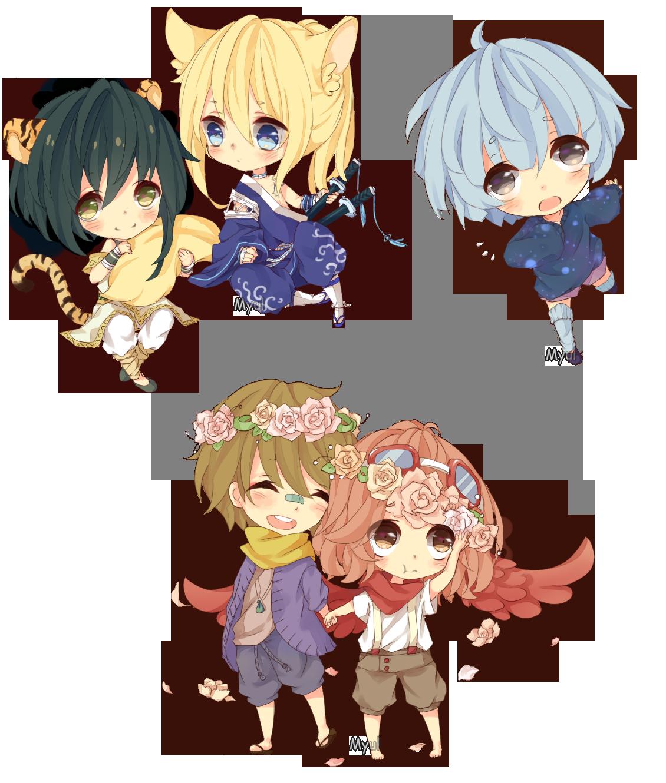 Anime Batch Charlotte: [COM] Chibi Batch 5 By Myul On DeviantArt