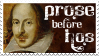 Prose Before Hos - Shakespeare by AsheEllwood