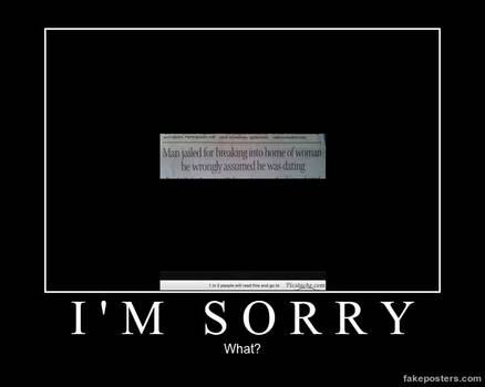 Demotivational Poster- What?