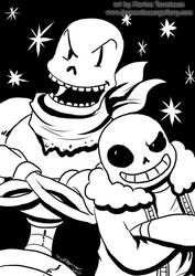 Sans and Papyrus by bluemonika