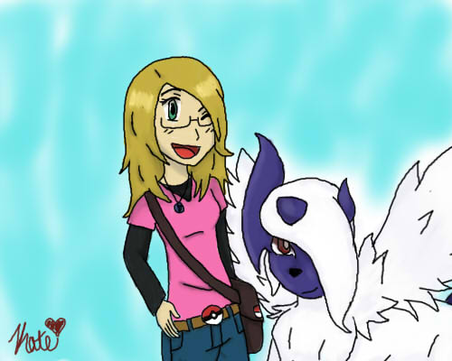 Me And My Absol Abby by pokemonpuppy1