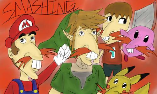 Smashingly Overdone Joke (Redrawn) by pokemonpuppy1