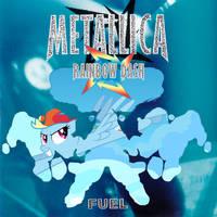 Rainbow Dash in Metallica's Fuel by 1992zepeda