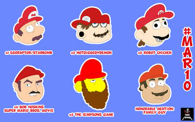 Top 5 Marios by 1992zepeda