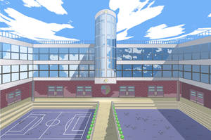 My second pixel art - school by vangell