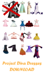 MMD Project Diva Dresses --DL--