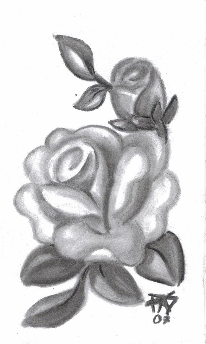 Easy Rose By Robertsloan2
