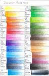 Derwent Aquatones color chart