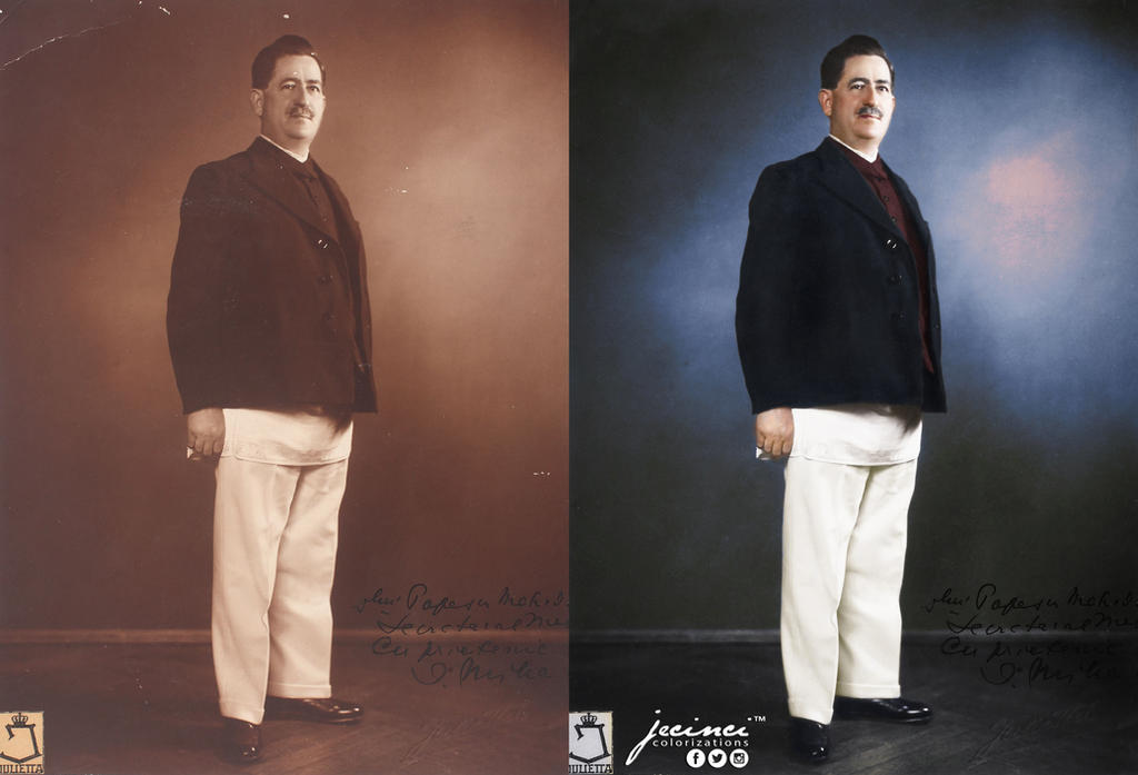 Ion Mihalache 1930s- colorized by jecinci by jecinci