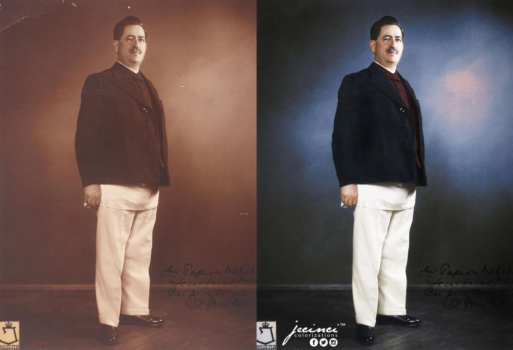 Ion Mihalache 1930s- colorized by jecinci