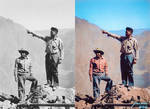 Apache native americans employed as high-scalers