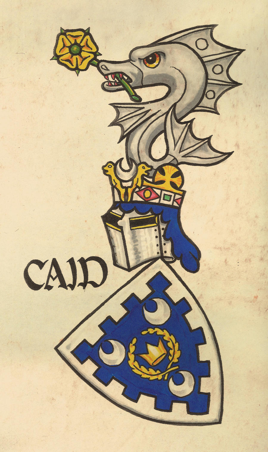 Caid Arms, Gelre Style