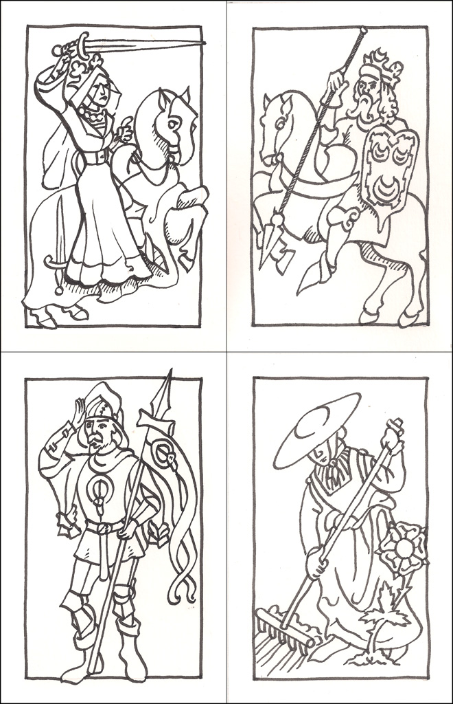 15th C. Deck of Cards - Court Cards by WorldsEdge