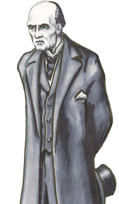 Professor Moriarty (after Sidney Paget)