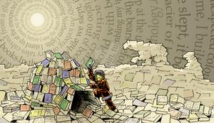 Igloo Made of Books