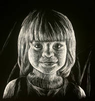 Scratchboard Girl by WorldsEdge