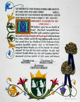 Award of Arms for Margaret of Carlisle