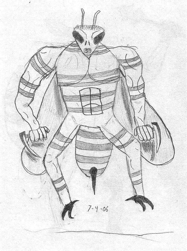 Bug Guy: Bee by DanielTheDementedOne