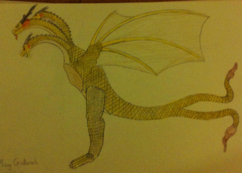 how to draw king ghidorah