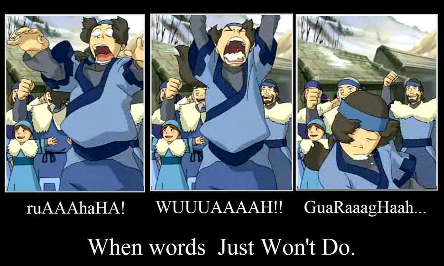 When words won't do by Katangaroo