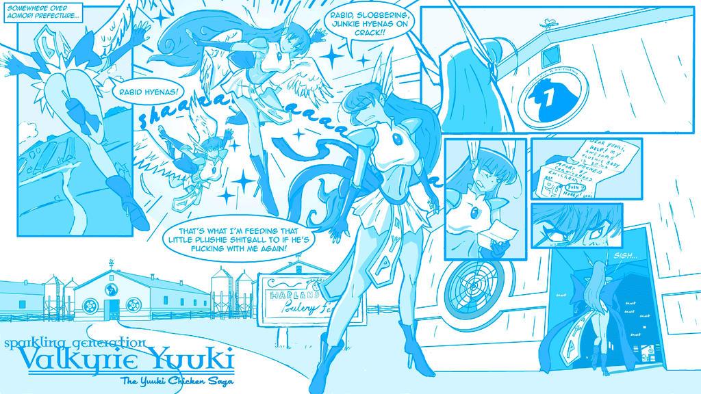Yuuki Chicken Saga_Blue_Pg01 by rorschach089