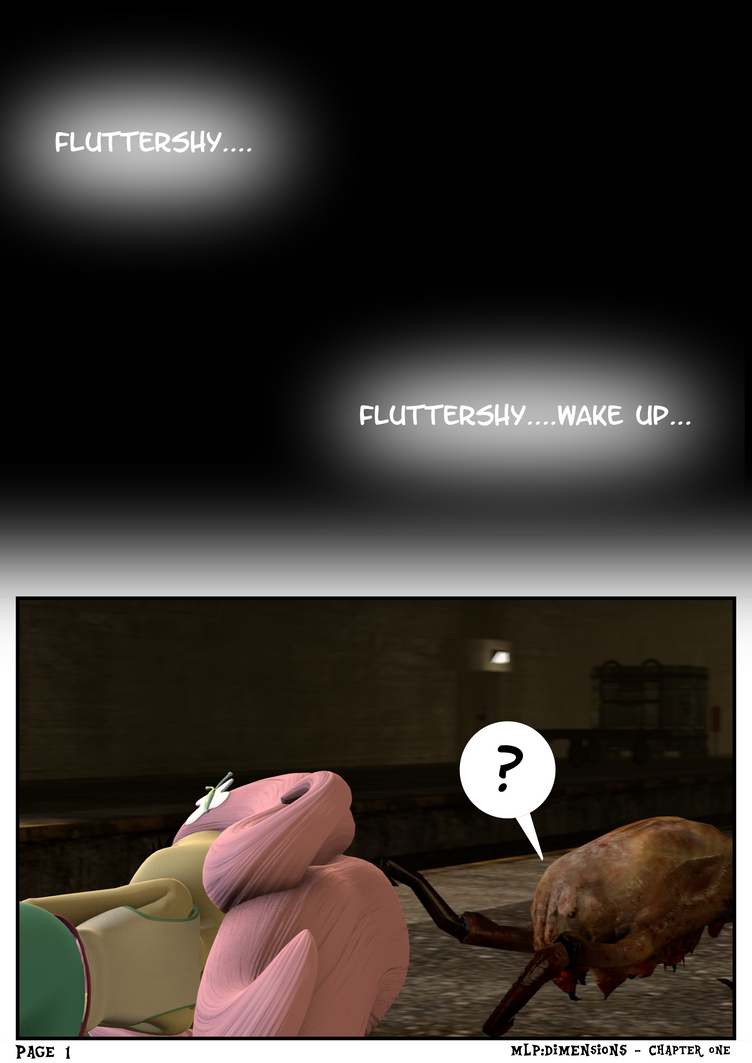 MLP:DIMENSIONS - Fluttershy - Page 1 by MyLittlePinkieSFM