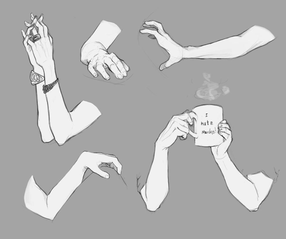 Hands and Arms References by NimeniCanine on DeviantArt