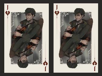 Jack of Hearts: Sherlock Holmes by NimeniCanine