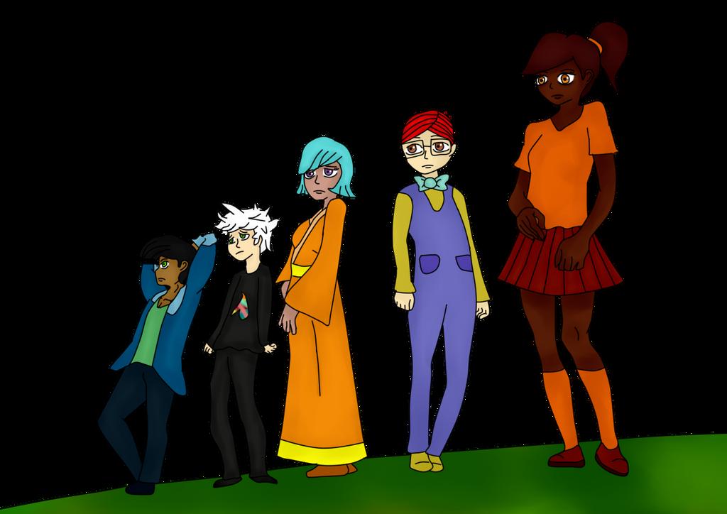 Andre, Naseer, Selena, Gunter y Sovanna (12J 12C) by Meloewe