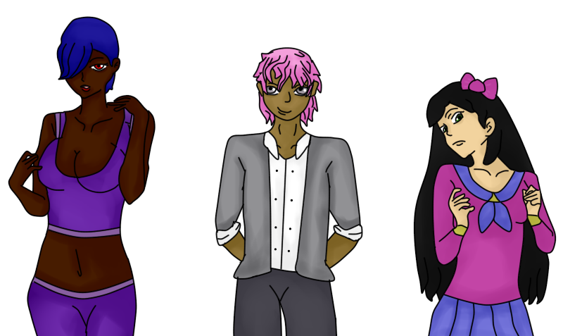 Jesenia, Tayeb y Aika (12J 12C) by Meloewe