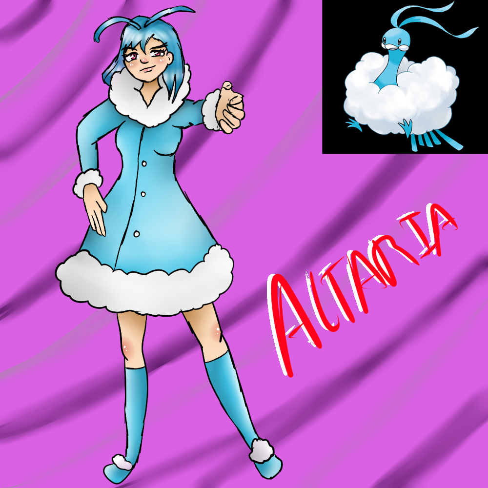 Altaria (Gijinka) by Meloewe