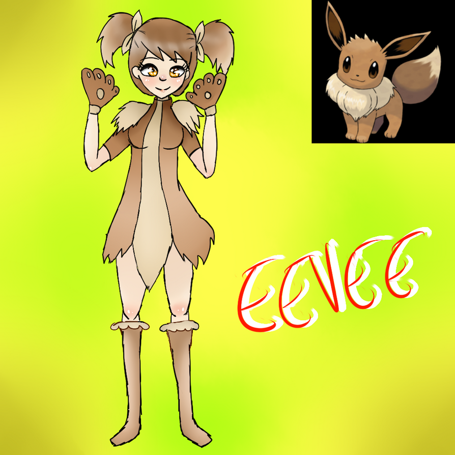 Eevee (Gijinka) by Meloewe