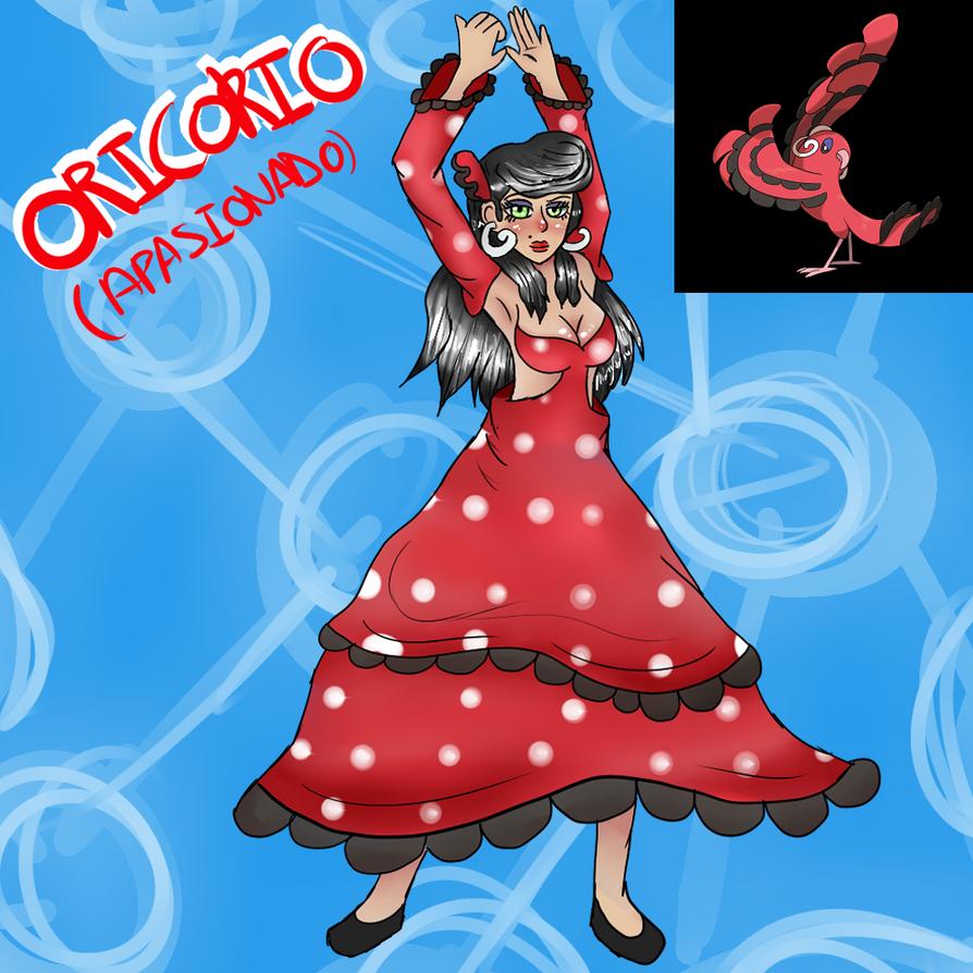 Oricorio apasionado (Gijinka) by Meloewe