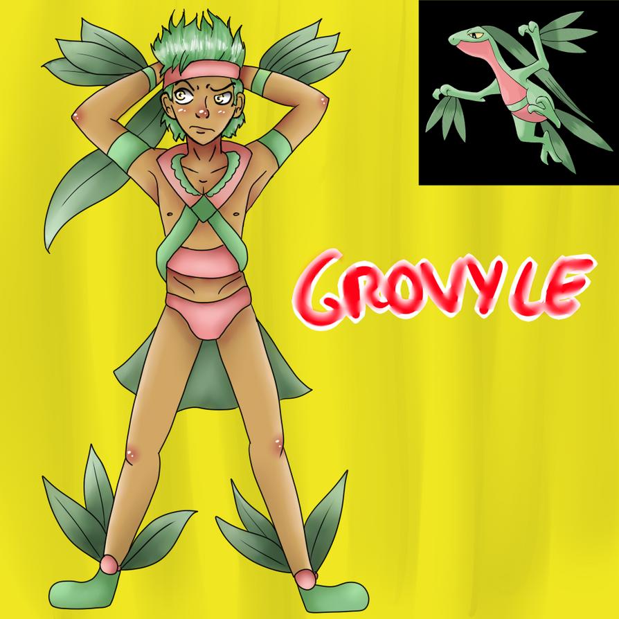 Grovyle (Gijinka) by Meloewe