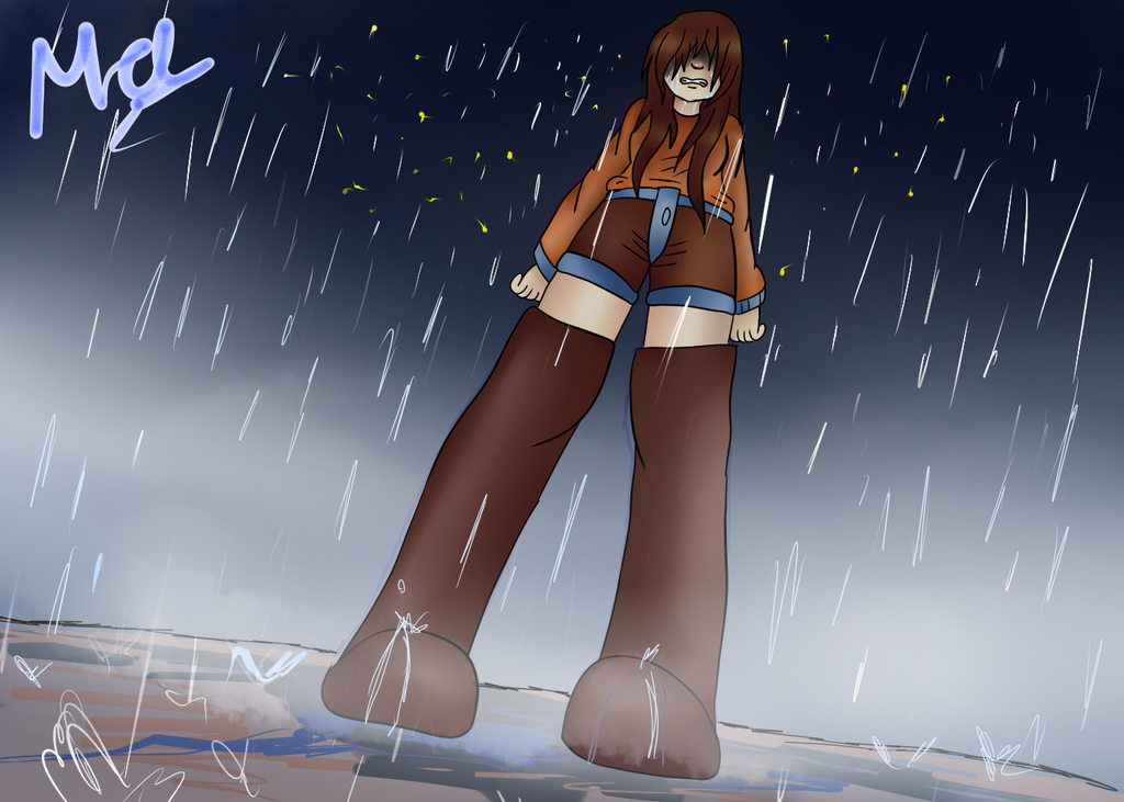 Crying in the rain by Meloewe
