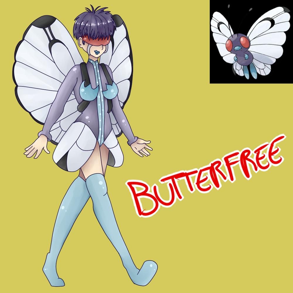 Butterfree (Gijinka) by Meloewe