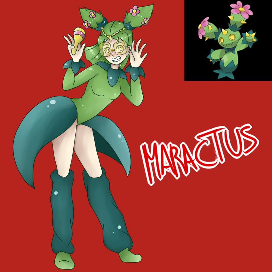 Maractus (Gijinka) by Meloewe