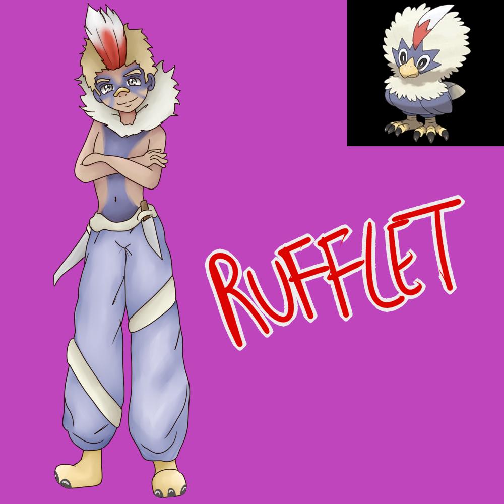 Rufflet (Gijinka) by Meloewe