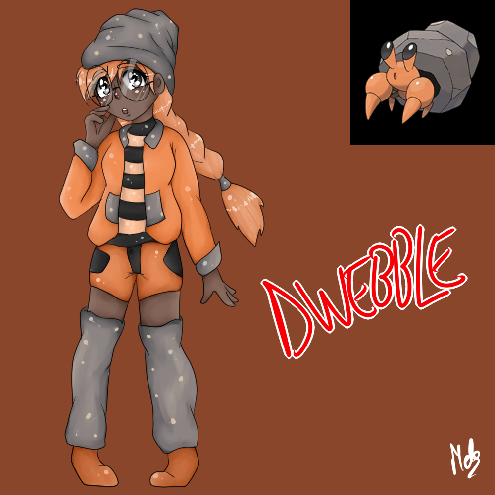 Dwebble (Gijinka) by Meloewe