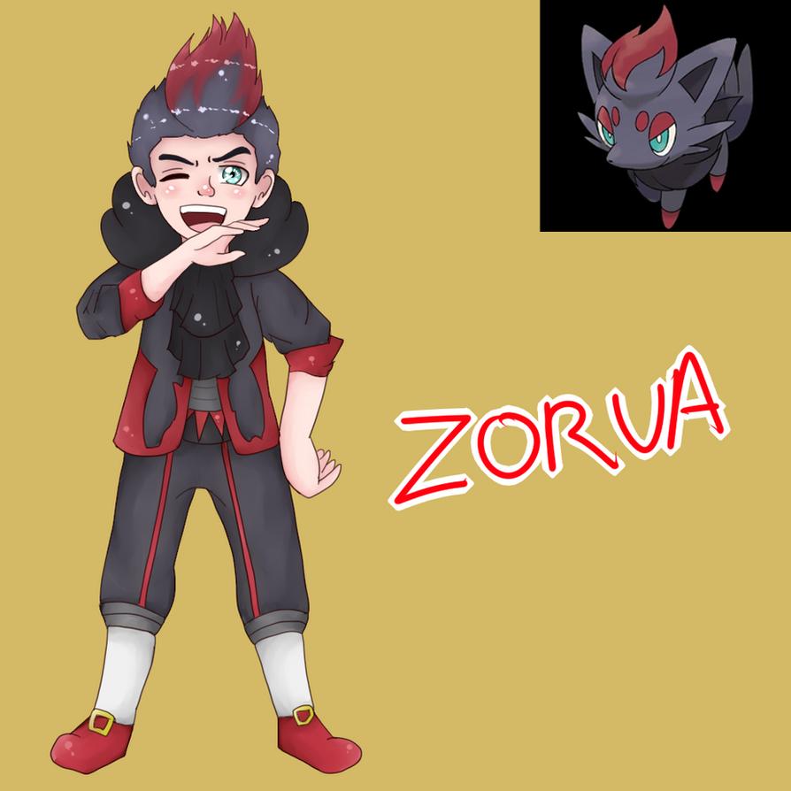 Zorua (Gijinka) by Meloewe