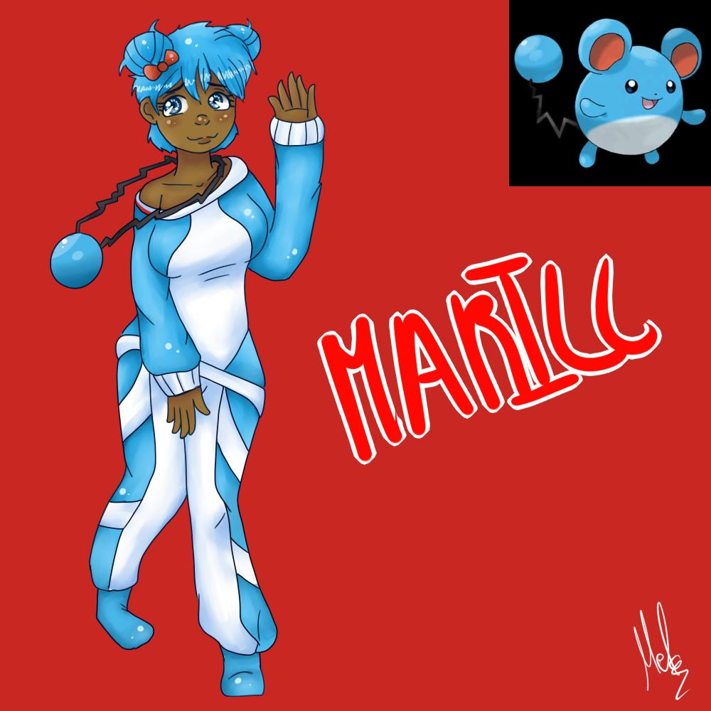 Marill (Gijinka) by Meloewe