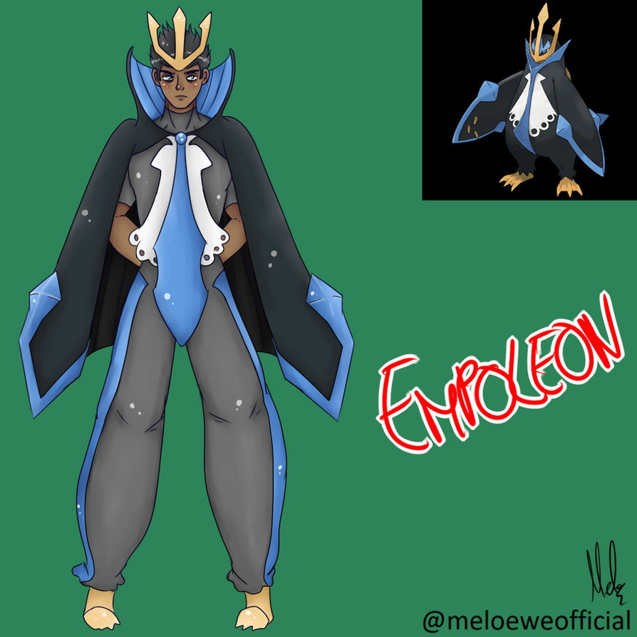 Empoleon (Gijinka) by Meloewe
