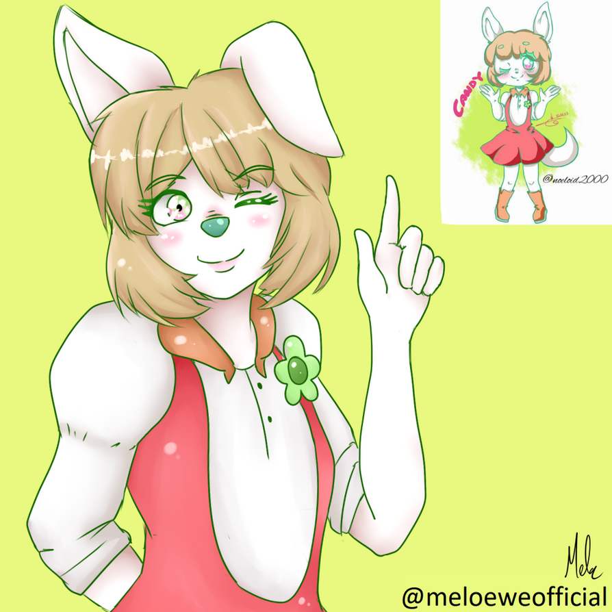 Candy (OC of a friend drawn by me) by Meloewe