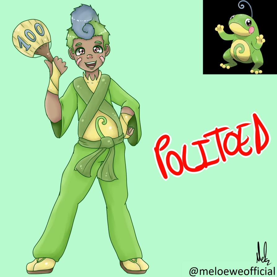 Politoed (Gijinka) - 100 Pokemon Gijinkas!?!? by Meloewe