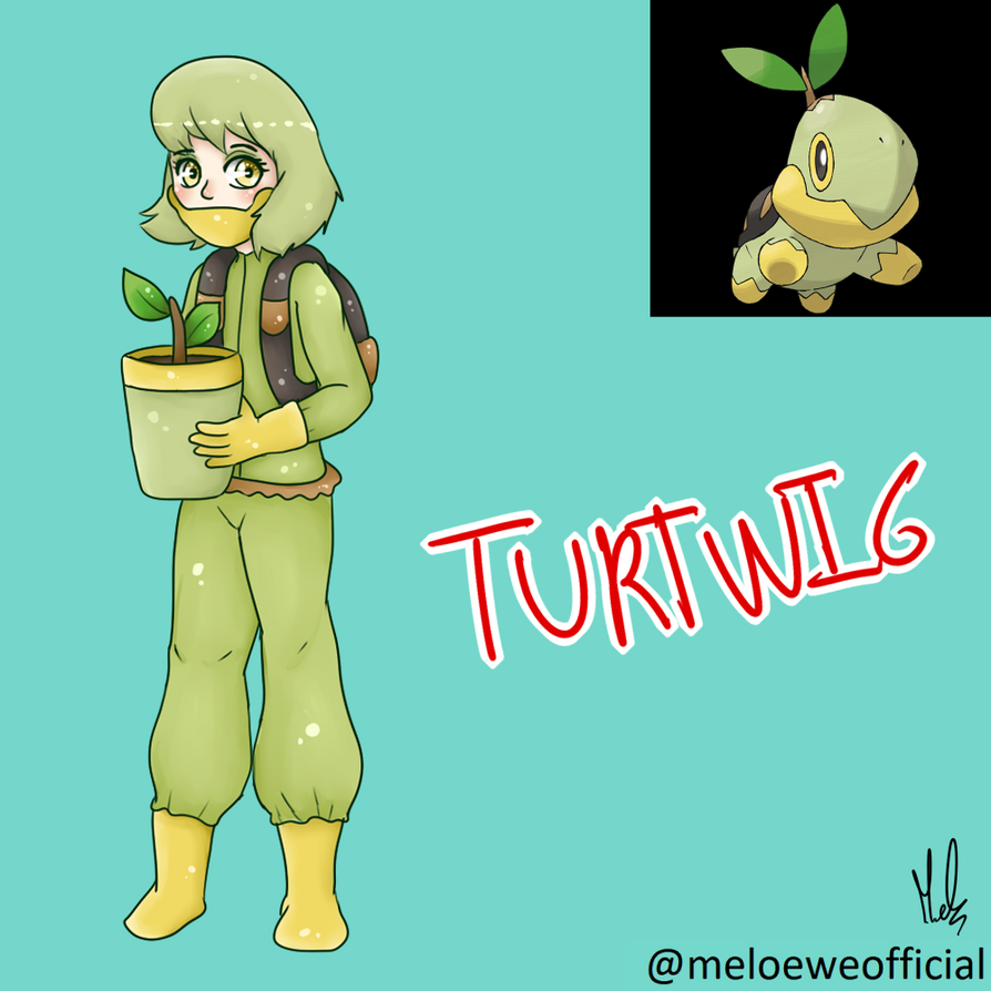 Turtwig (Gijinka) by Meloewe