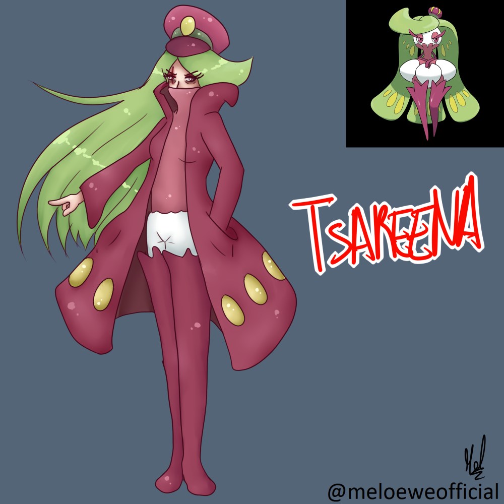 Tsareena (Gijinka) by Meloewe