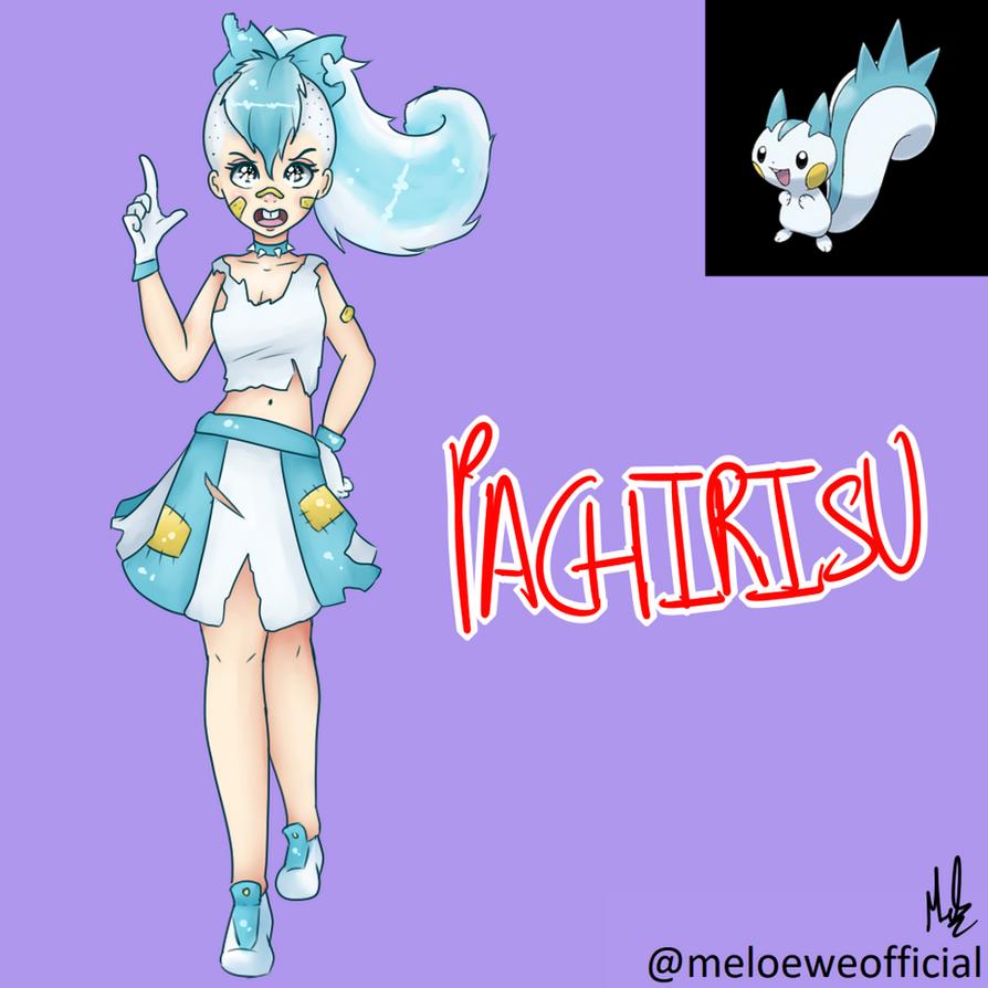 Pachirisu (Gijinka) by Meloewe