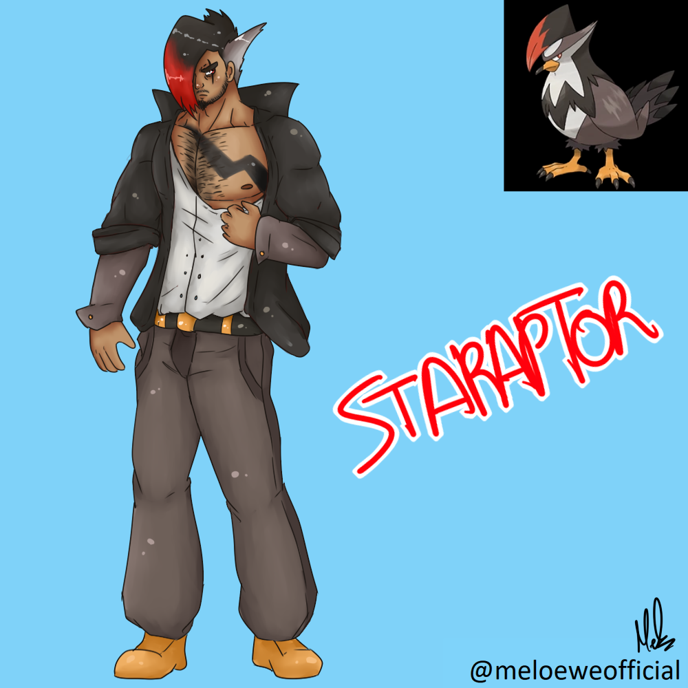 Staraptor (Gijinka) by Meloewe