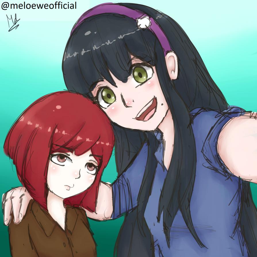 Yumeno and Tenko by Meloewe