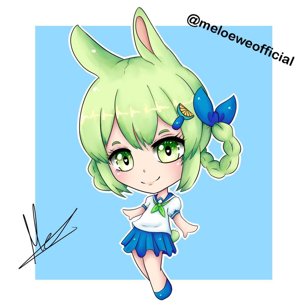 Lemoni (fanart of an Ibu-chan's OC) by Meloewe